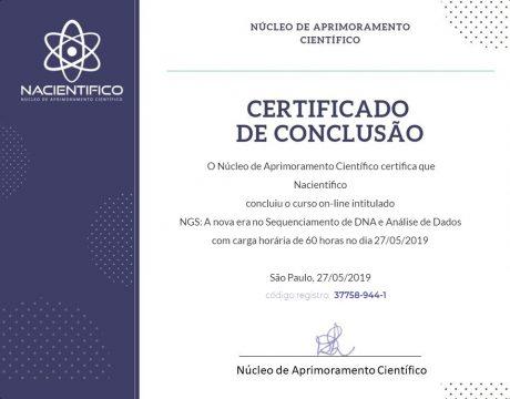 Curso Biologia Molecular on-line - ABED - CERTIFICADO
