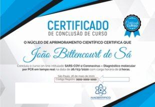 parasitologia certificado